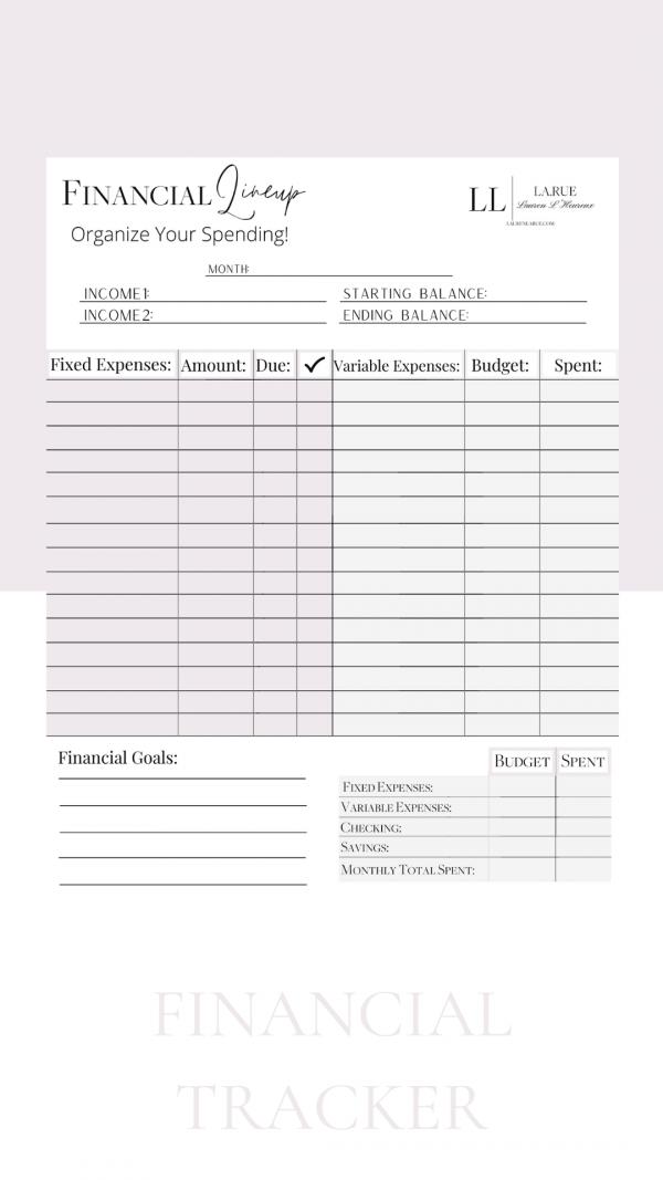 Budget & Track Printable