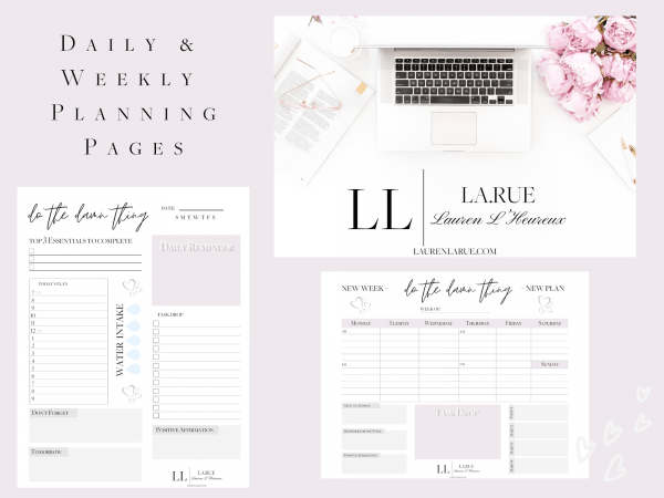 Daily & Weekly Planning Pages