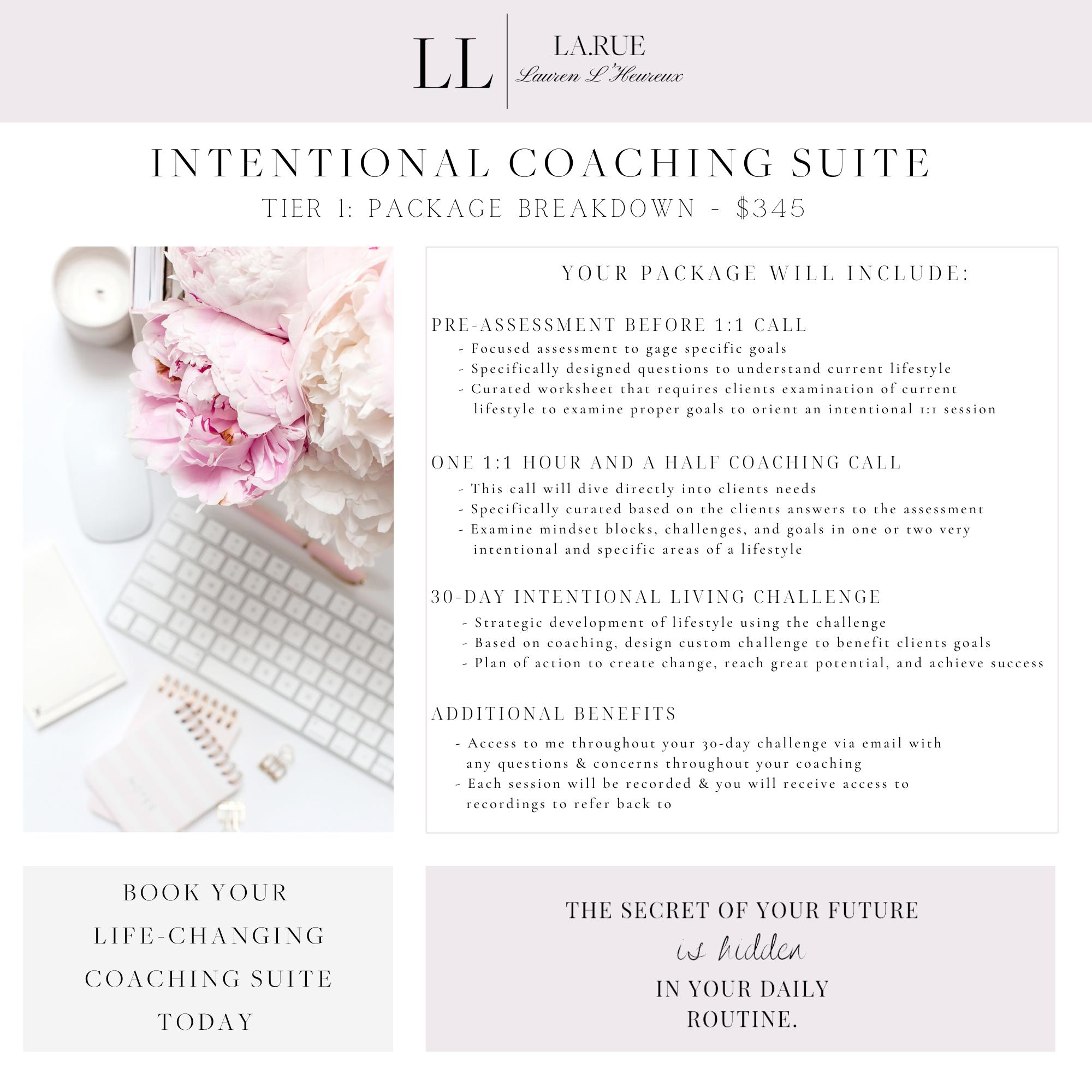 Intentional Lifestyle Coaching