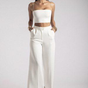 Meshki White Pants