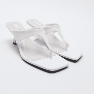 Zara White Minimalist Heels